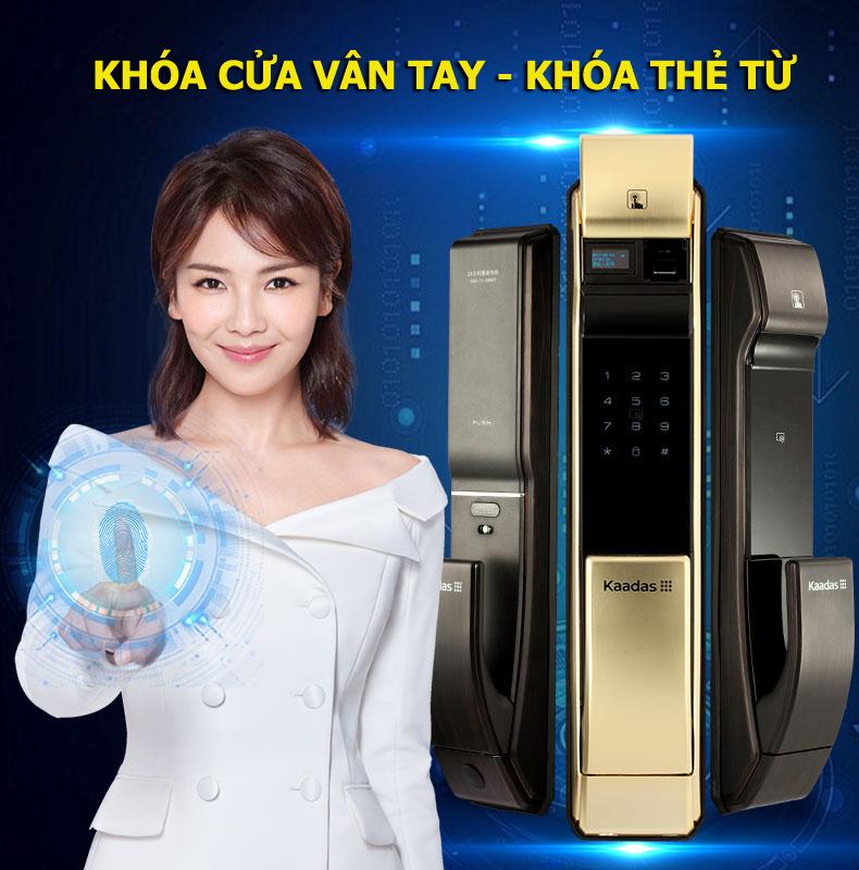 Hình ảnh lắp đặt khóa điện tử Kaadas tháng 1